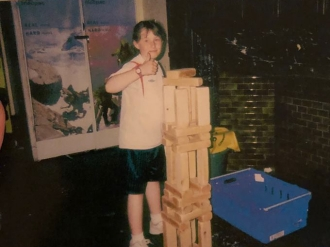 Apparently thumbs up was my fave pose as a child!
