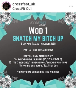 Image from OL1 Crossfit events instagram